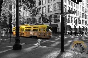 San Francisco Vintage Streetcar on Market Street