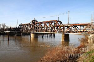 Amtrak California Crossing The Old Sacramento Southern Pacific Train Bridge By Wingsdomain.com Art And Photography