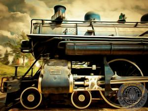 Vintage Steam Locomotive By Wingsdomain Art And Photography