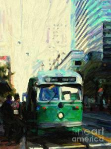 Wingsdomain Thanks Art And Photo Collector From Joliet, IL Who Purchased A Fine Art Gliclee Print Of San Francisco Trolley F Line On Market Street