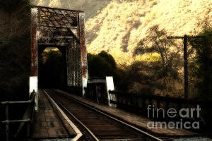 Old Railroad Bridge . Dreamy Style Photo . By Wingsdomain.com