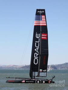Americas Cup In San Francisco - Oracle Team USA 4 . By Wingsdomain.com Art And Photography