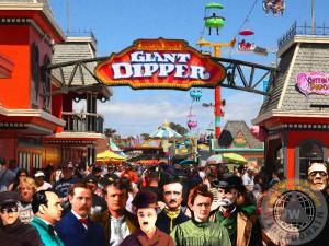 Charlie And His Eclectic Friends Cannot Decide Between The Giant Dipper The Sky Gliders Or Ironically The Side Shows V2 By Wingsdomain Art And Photography
