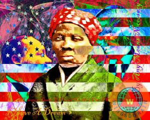 Harriet Tubman Martin Luther King Jr Malcolm X American Flag By Wingsdomain Art And Photography