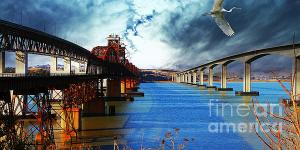 The Three Benicia-Martinez Bridges - A Journey Through Time . By Wingsdomain.com