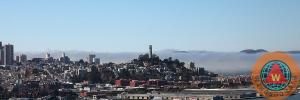 Rolling Fog Beyond The San Francisco Coit Tower By Wingsdomain Art And Photography