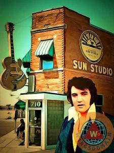 Elvis Presley The King At Sun Studio Memphis Tennessee By Wingsdomain Art And Photography