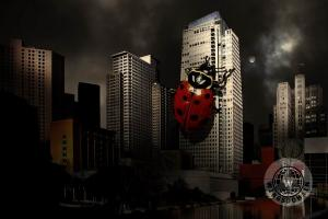 Attack Of The Giant Killer Ladybug Of San Francisco . By Wingsdomain.com Art And Photography