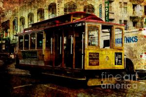 Wingsdomain Thanks Art And Photo Collector From Kennesaw GA Who Purchased A Fine Art Gliclee Print Of San Francisco Cable Car . Texture