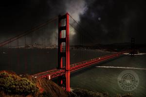 Last Light Beyond The Golden Gate . By Wingsdomain.com Art And Photography