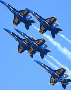 Wingsdomain Thanks Art And Photo Collector From Portland OR Who Purchased Two Fine Art Gliclee Print Of Blue Angels Leaving A White Trail